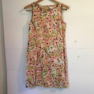 J Jill love linen petite shift dress